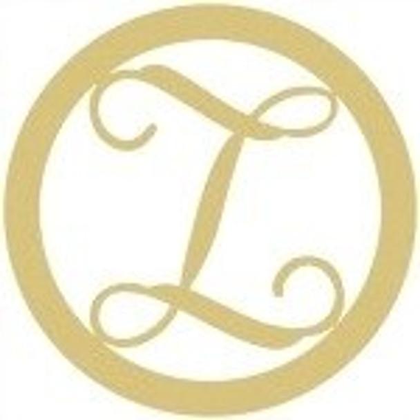 Circle Framed Monogram Letter-Z