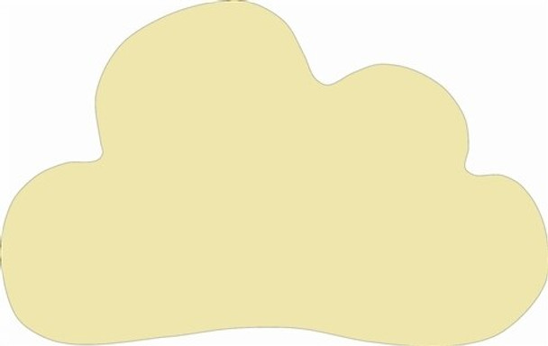 Cloud Unfinished Cutout Paintable Wooden MDF DIY Craft
