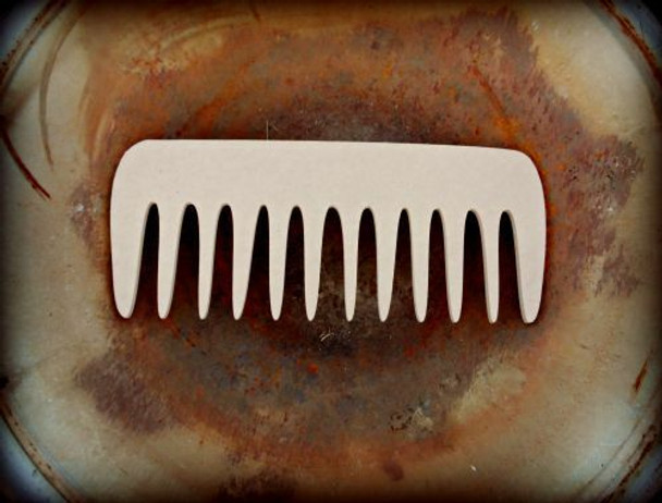 Comb Unfinished Cutout Paintable Wooden MDF DIY Craft