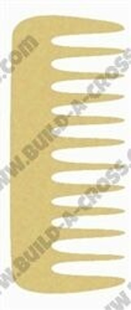 Comb Unfinished Cutout Paintable Wooden MDF build-a-cross