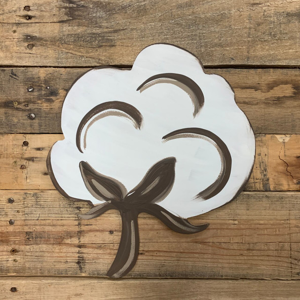 Cotton Unfinished Cutout Paintable Wooden MDF DIY Craft