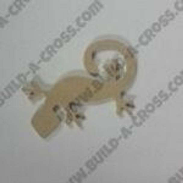 Critter Gecko Unfinished Cutout MDF DIY Craft build-a-cross
