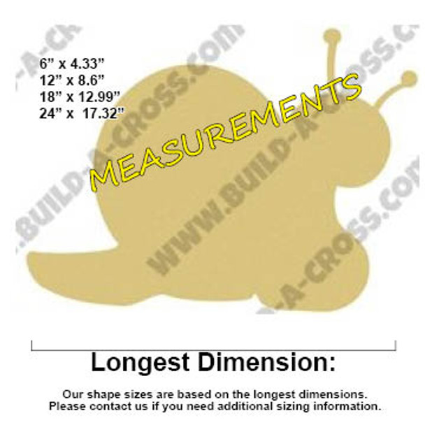 Critter Snail Unfinished Cutout, Wooden Shape, MDF DIY Craft