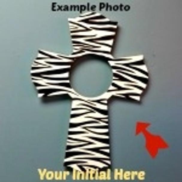 Cross 61 Frame Letter Insert Wooden Monogram Unfinished DIY Craft