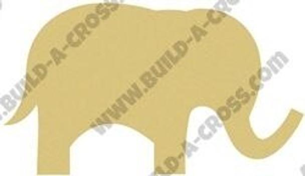 Cute Elephant Unfinished Cutout build-a-cross