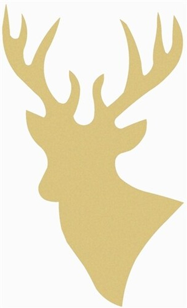 Deer Unfinished Cutout Paintable Wooden MDF DIY Craft