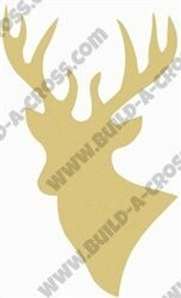 Deer Unfinished Cutout Paintable Wooden MDF build-a-cross