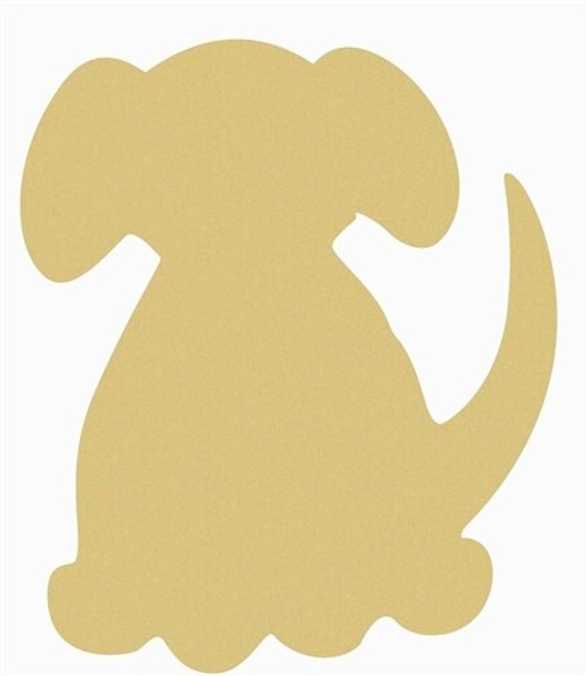 Dog Unfinished Cutout Paintable Wooden MDF DIY Craft