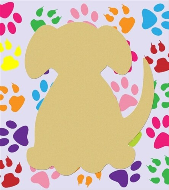 Dog Unfinished Cutout Paintable Wooden MDF Craft