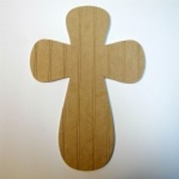 Unfinished Wooden Cross Beadboard  Paint-able Wall Hanging Stackable Cross 26