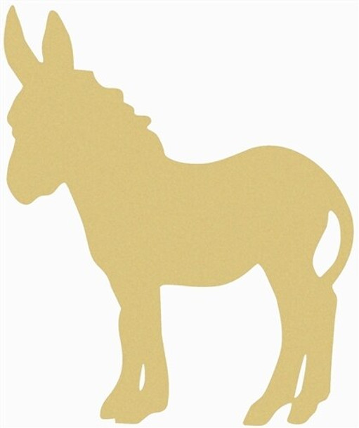 Donkey Unfinished Cutout Paintable Wooden MDF DIY Craft