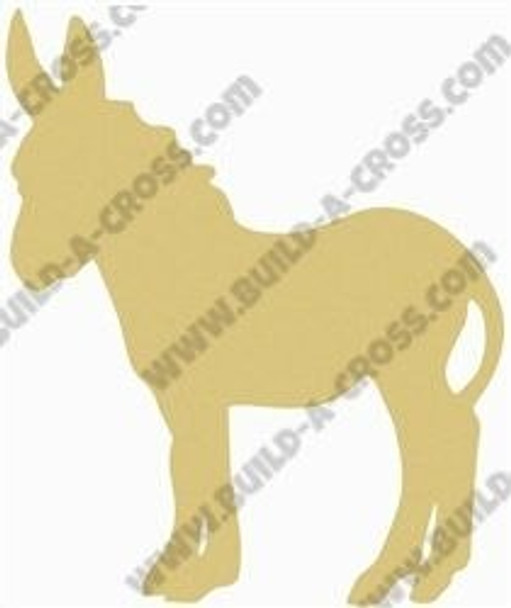 Donkey Unfinished Cutout Paintable Wooden MDF build-a-cross