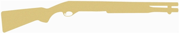 Double Barrel Gun Unfinished Cutout, Wooden Shape, Paintable MDF Craft