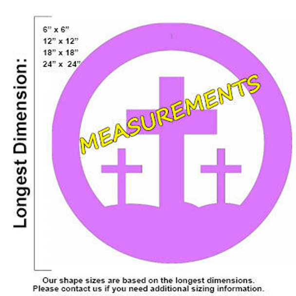 Easter Crosses Unfinished Cutout MDF measurements