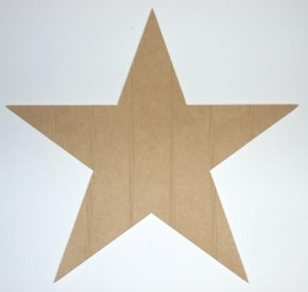 Wooden Star Cutout Beadboard Shape Paint-able MDF DIY Craft