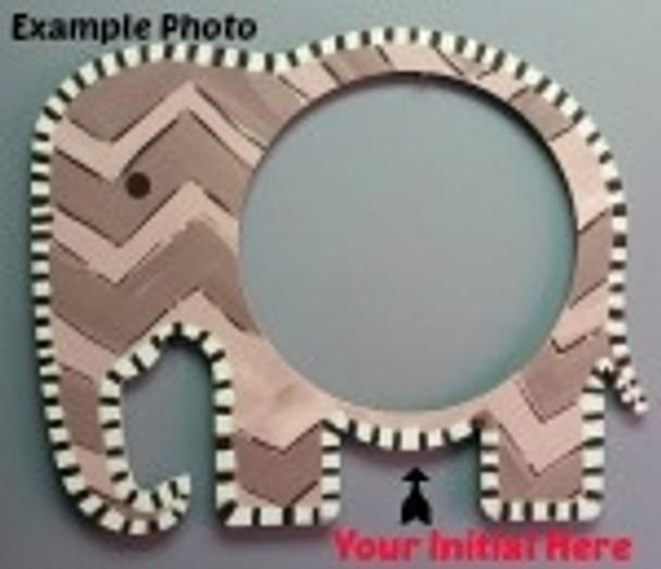 Elephant Frame Letter Insert Wooden Monogram Unfinished DIY Craft