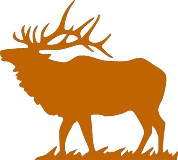 Elk Unfinished Cutout, Wooden Shape,  Paintable MDF DIY Craft
