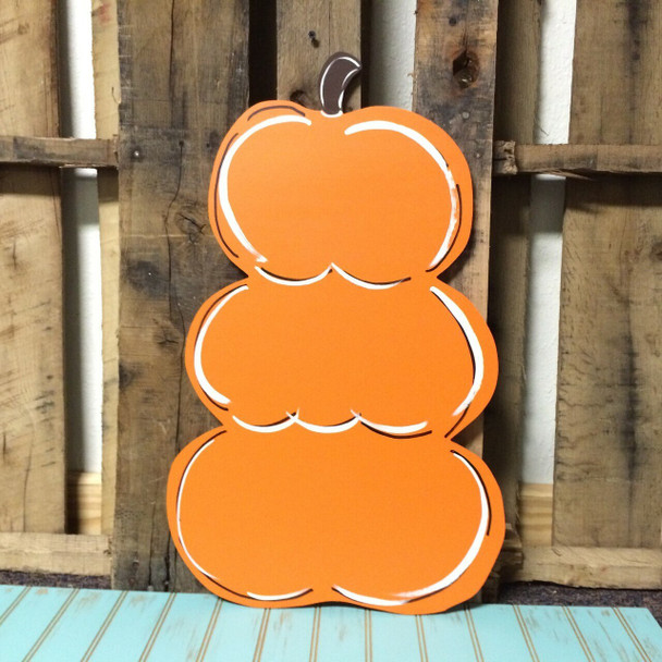 Fall Stacked Pumpkin Unfinished Wooden Paintable MDF