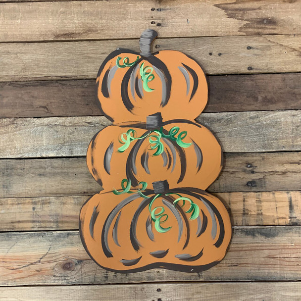 Fall Stacked Pumpkin Unfinished Paintable MDF