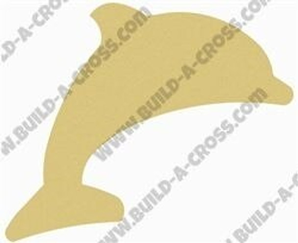 Dolphin Unfinished Cutout Paintable MDF DIY Craft build-a-cross