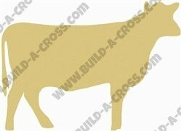 Cow Unfinished Cutout Paintable Wooden MDF DIY Craft build-a-cross