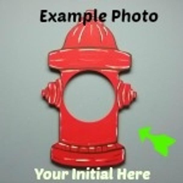 Fire Hydrant Frame Letter Insert Wooden Monogram Unfinished Craft