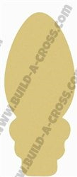 Christmas Bulb Unfinished Cutout, Wooden Shape, Paintable  DIY Craft
