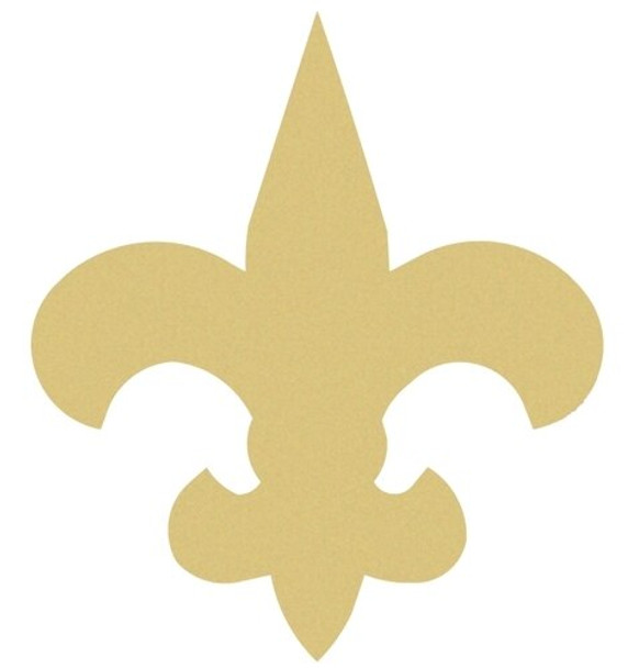 Fleur de Lis Unfinished Cutout Paintable Wooden MDF
