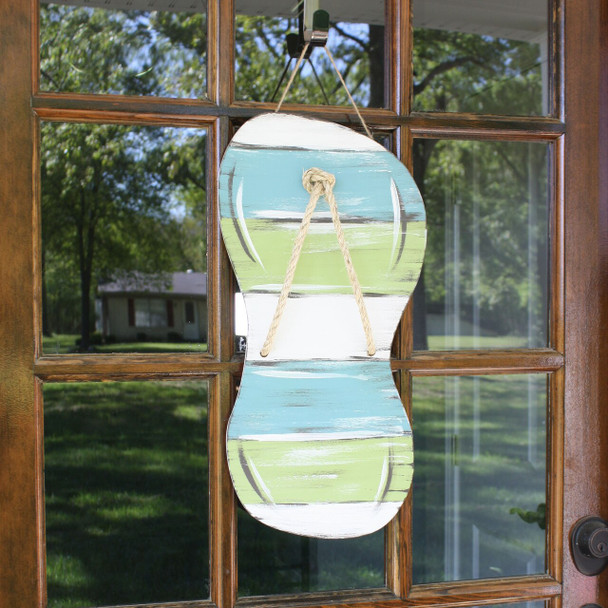 Flip-Flop Unfinished Cutout Paintable Wooden MDF DIY Craft