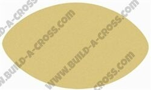 Football Shape Unfinished Paintable MDF build-a-cross