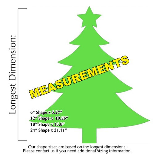 Green Wooden Christmas Tree With Star measurements