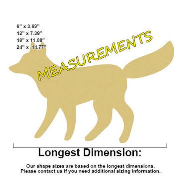 Fox Unfinished Cutout measurements