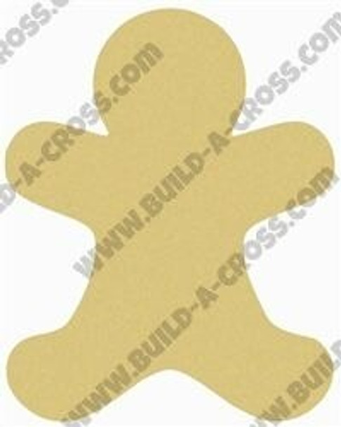 Gingerbread Man Unfinished Wooden Shape build-a-cross