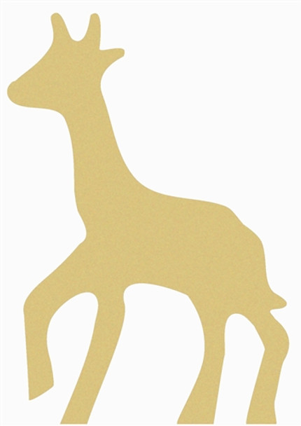 Giraffe Unfinished Cutout, Wooden Shape, Paintable Wooden MDF