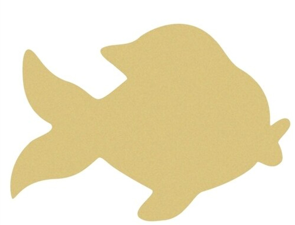 Gold Fish Unfinished Cutout