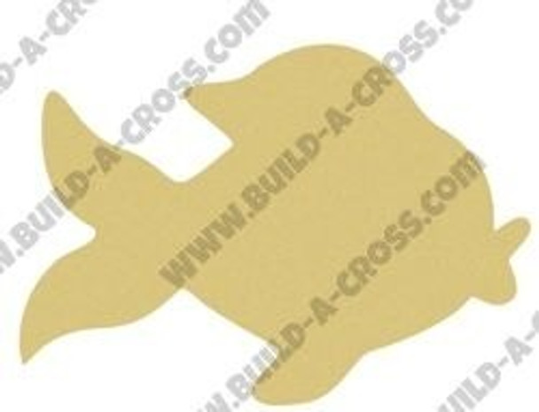 Gold Fish Unfinished Cutout build-a-cross