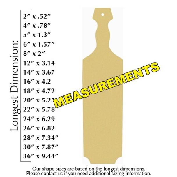 Sorority paddle pledge wood paintable measurements