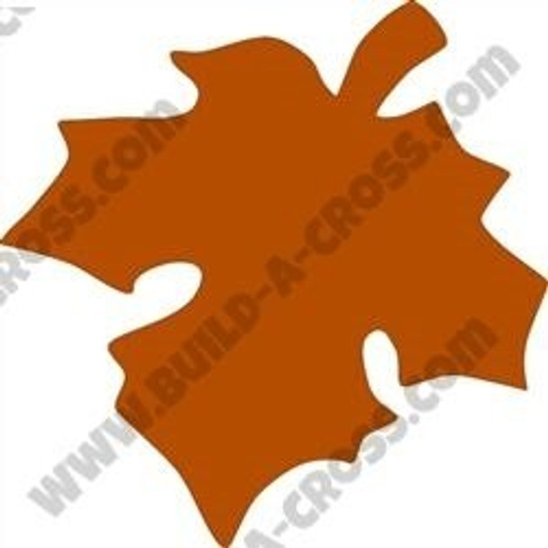 Fall Leaf Unfinished Cutout Wooden Shape build-a-cross