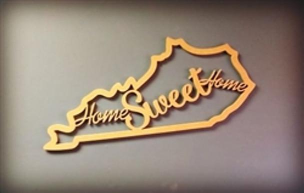 Framed State Home Sweet Home Wooden Art DIY Craft MDF