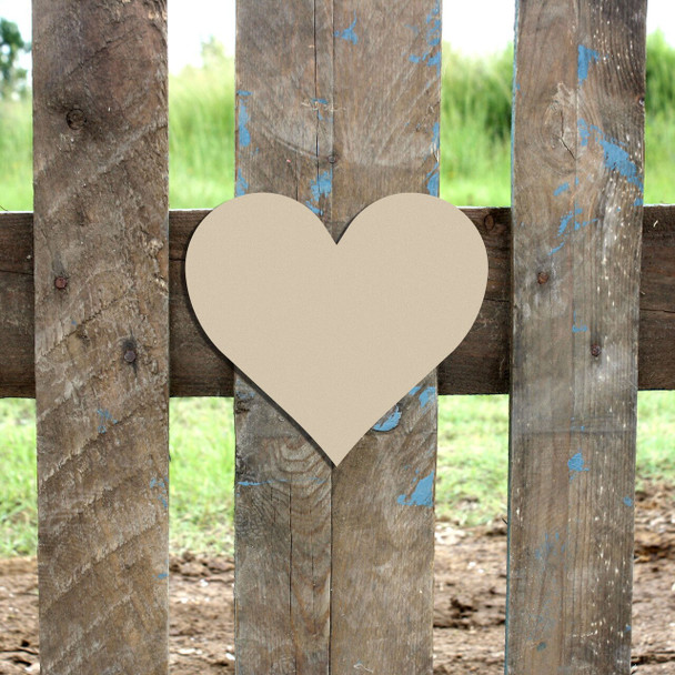 Heart Unfinished Cutout Paintable Wooden MDF