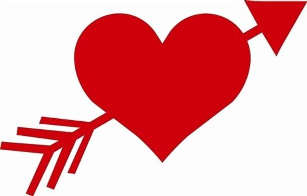 Heart Arrow Unfinished Cutout