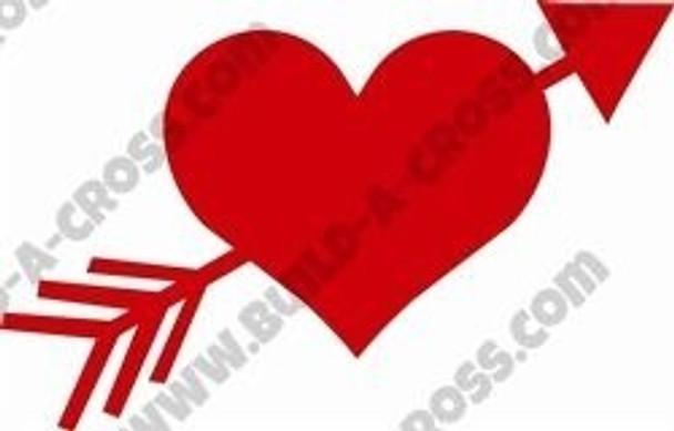 Heart Arrow Unfinished Cutout build-a-cross
