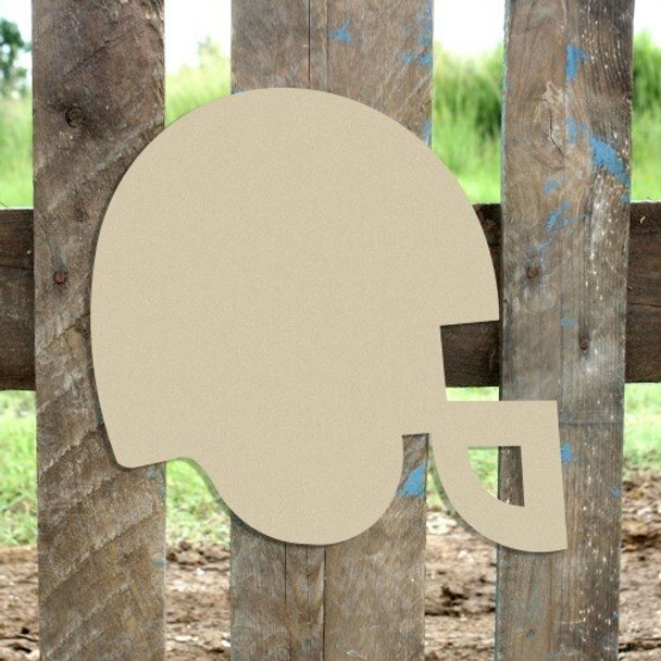 Football Helmet Unfinished Cutout