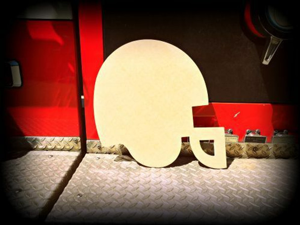 Football Helmet Unfinished Cutout Paintable Wooden MDF