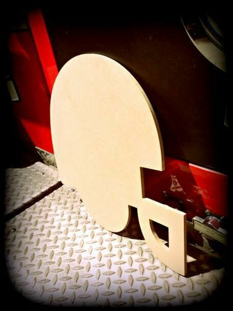 Football Helmet Unfinished Paintable Wooden MDF