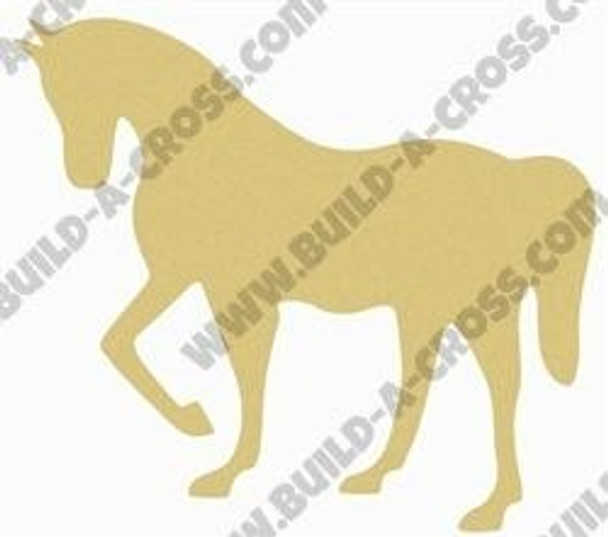 Horse Unfinished Cutout Paintable Wooden MDF build-a-cross