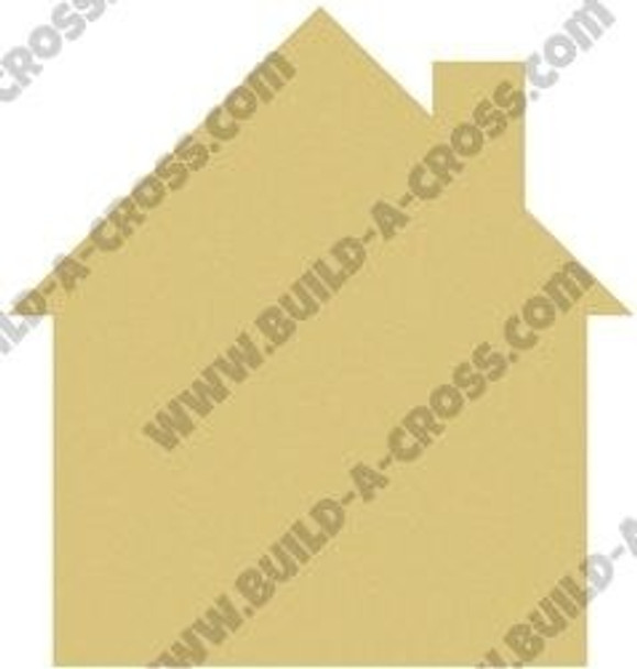 House Unfinished Cutout Paintable MDF DIY Craft build-a-cross
