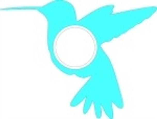 Hummingbird Frame Letter Insert Wooden Monogram Unfinished DIY Craft