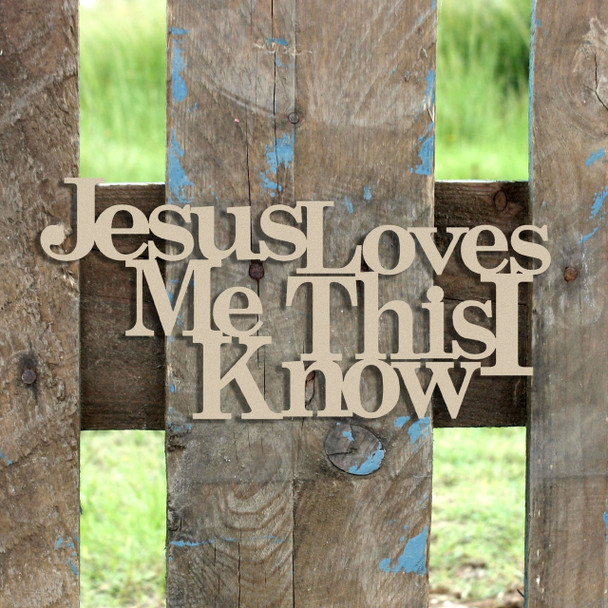 Jesus Loves Me Word Unfinished Cutout, Wooden Shape, MDF DIY Craft