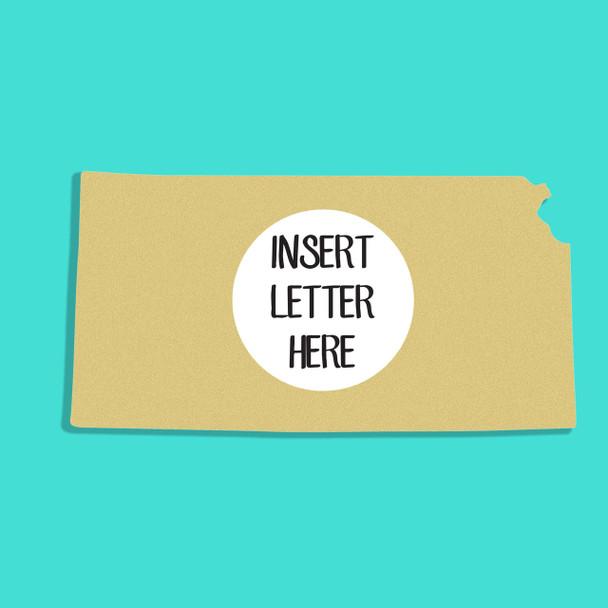 Kansas Frame Letter Insert Wooden Monogram Unfinished DIY Craft